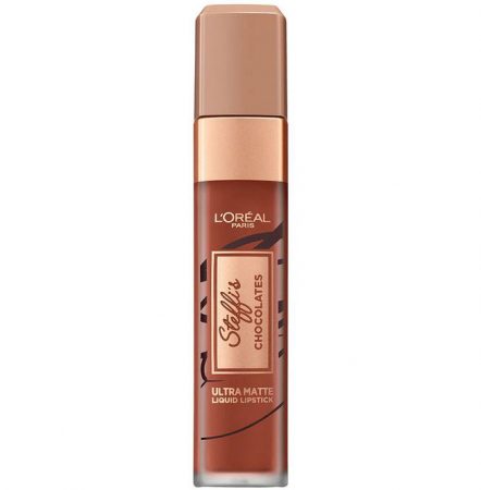 Ruj lichid ultra mat rezistent la transfer L'Oreal Paris INFAILLIBLE Les Chocolats, 862 Volupto Choco