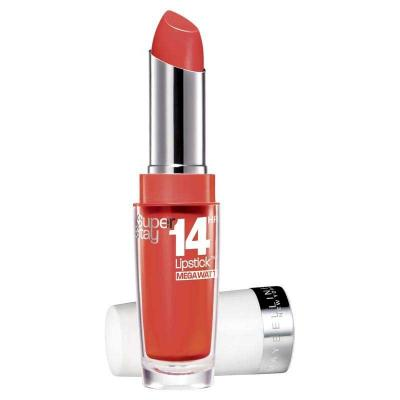 Ruj Maybelline SuperStay 14H Mega Watt - 455 Burst of Coral