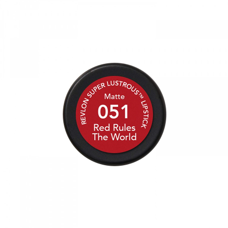Ruj mat Revlon Super Lustrous Lipstick, 051 Red Rules The World, 4.2 g1