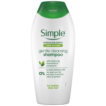 Sampon pentru scalp sensibil cu musetel, glicerina si uleiuri naturale, Simple Kind To Hair Gentle Cleansing, 400 ml