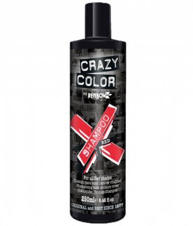 Sampon tratament nuantator, culoare rosu, CRAZY COLOR Red Shampoo, 250 ml