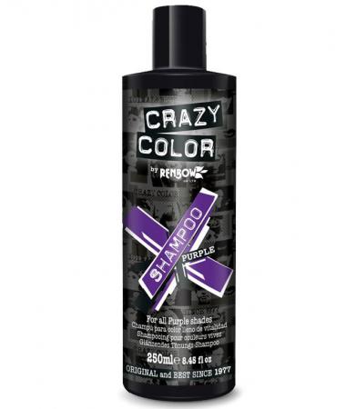 Sampon tratament nuantator, culoare mov, CRAZY COLOR Purple Shampoo, 250 ml