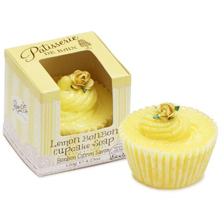 Sapun delicios cu aroma de lamaie Patisserie De Bain Lemon BonBon Cupcake Soap, 100 g