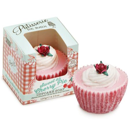 Sapun delicios cu aroma de prajitura cu cirese Patisserie De Bain Sweet As Cherry Pie Cupcake, 120 g