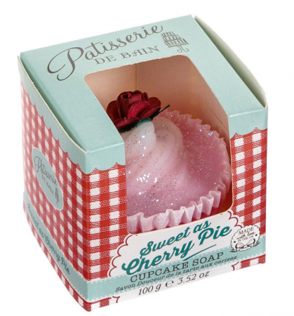 Sapun delicios cu aroma de prajitura cu cirese Patisserie De Bain Sweet As Cherry Pie Cupcake, 100 g