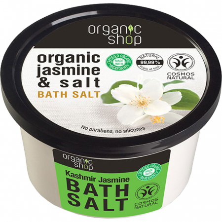Sare de baie cu Iasomie si Kashmir Organic Shop Bath Salt, Ingrediente 99.99% Naturale, 250 ml