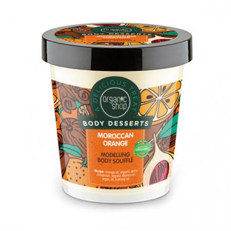 Sufleu de modelare pentru corp, efect Anti-Celulitic cu portocale marocane, Organic Shop Body Desserts Modelling Body Soufflé, 450 ml