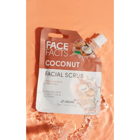Scrub Facial cu Cocos FACE FACTS imbogatit cu Vitamina C si Glicerina, 60 ml1