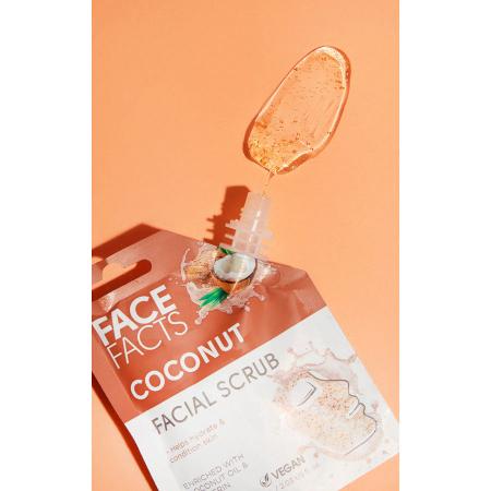 Scrub Facial cu Cocos FACE FACTS imbogatit cu Vitamina C si Glicerina, 60 ml2