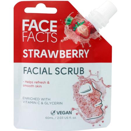 Scrub Facial cu Capsuni FACE FACTS imbogatit cu Vitamina C si Glicerina, 60 ml