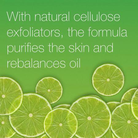 Exfoliant racoritor pentru ten gras cu Lime si Aloe Vera NEUTROGENA Oil Balancing, Efect Matifiant pentru uz zilnic, 150 ml1