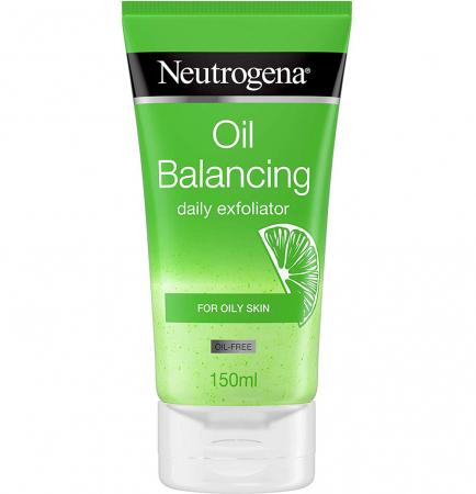 Exfoliant racoritor pentru ten gras cu Lime si Aloe Vera NEUTROGENA Oil Balancing, Efect Matifiant pentru uz zilnic, 150 ml