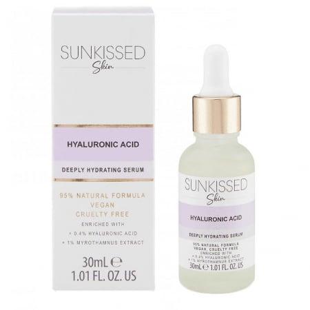 Ser cu Acid Hyaluronic, SUNKISSED Deeply Hydrating Serum, 95% Ingrediente Naturale, 30 ml0