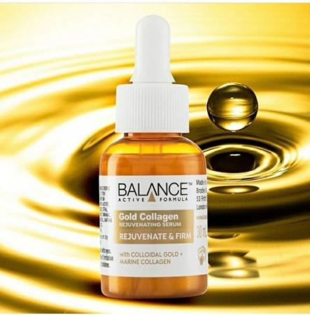 Ser facial pentru intinerire cu Aur si Colagen Marin BALANCE ACTIVE Rejuvenating Serum, 30 ml1