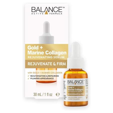 Ser facial pentru intinerire cu Aur si Colagen Marin BALANCE ACTIVE Rejuvenating Serum, 30 ml
