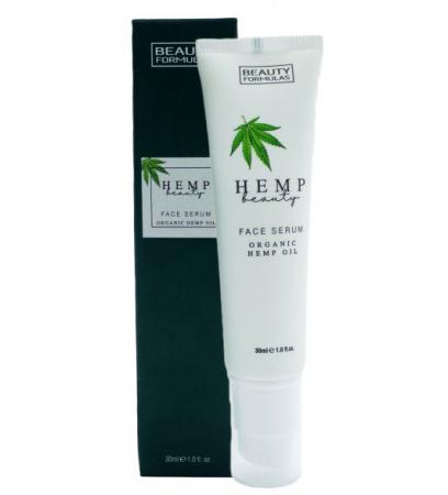 Ser facial cu Ulei Organic de Canepa BEAUTY FORMULAS Face Serum, 30 ml
