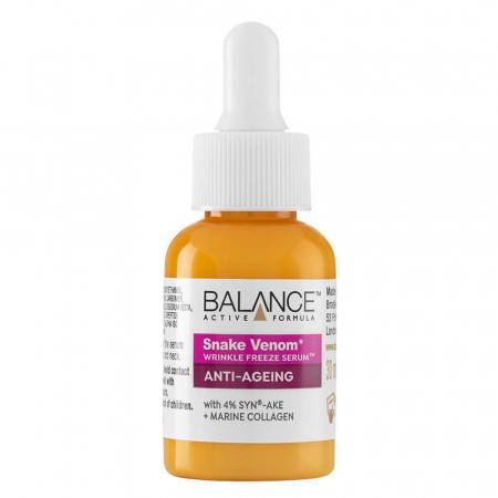 Ser facial anti-rid Venin de Sarpe si Colagen Marin BALANCE ACTIVE Wrinkle-Freeze Serum, 30 ml1