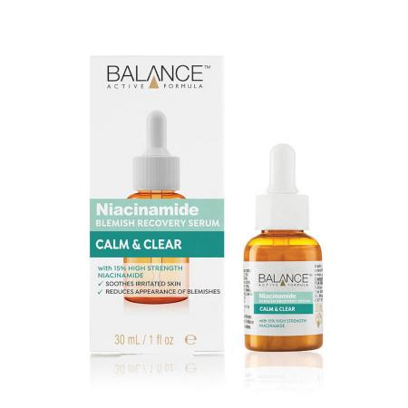 Ser facial anti-sebum cu Niacinamida BALANCE ACTIVE Blemish Recovery Serum, 30 ml