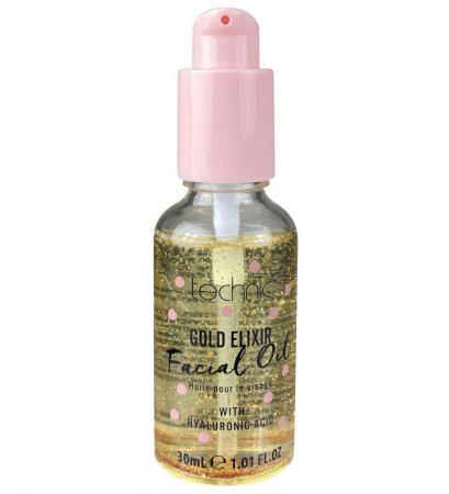Ulei facial cu Particule de Aur si Acid hialuronic TECHNIC Gold Elixir Facial Oil, 30 ml