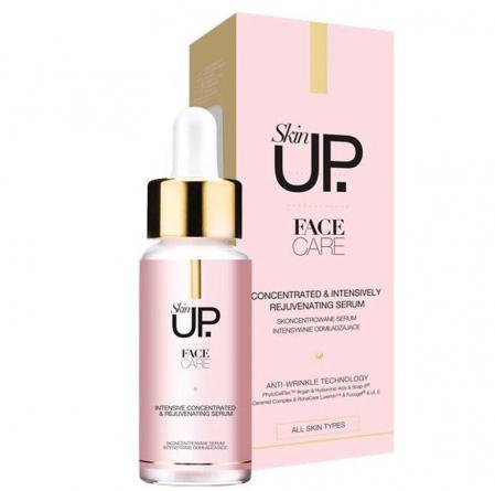 Ser facial concentrat, intens regenerator, anti-rid, Skin UP Face Care cu acid hialuronic, tehnologie PhytoCellTec cu celule stem si Argan, 30 ml