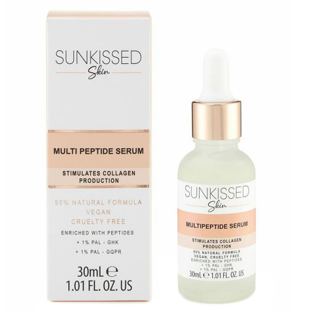 Ser antirid cu efect de fermitate SUNKISSED Multi Peptide Skin Boosting Serum, 95% Ingrediente Naturale, 30 ml