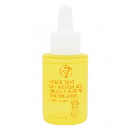 Serum de Fata cu Acid Hialuronic, Colagen si Enzime din Ananas W7 Essential Essence, 30 ml
