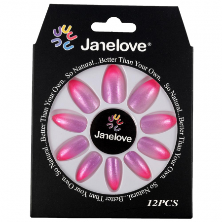 Set 12 Unghii False Janelove, 09 Fuchsia