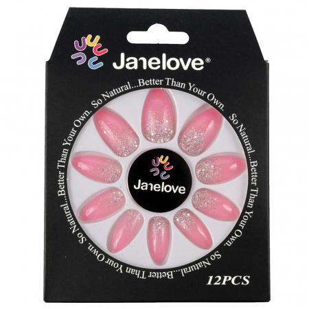 Set 12 Unghii False Janelove, 20 Famous Pink