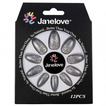 Set 12 Unghii False Janelove, 27 Shades Of Grey