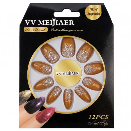 Set 12 Unghii False VV Meijiaer So Natural, 34 Sweet Honey