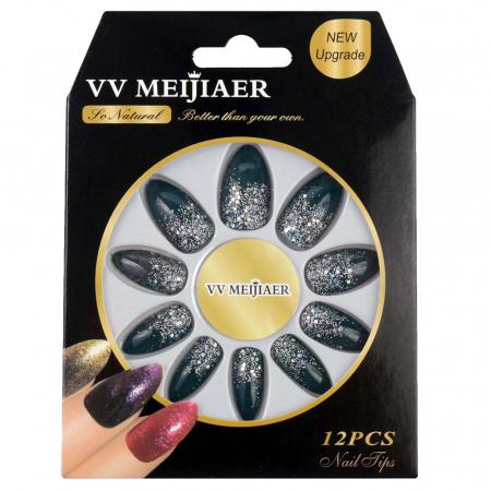 Set 12 Unghii False VV Meijiaer So Natural, 36 Cameleon