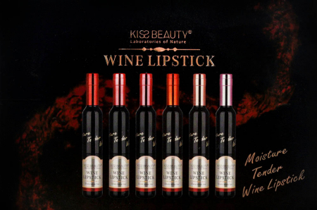 Set 6 Rujuri rezistente la transfer 12h, Kiss Beauty WINE LIPSTICK, Cabernet Sauvignon2