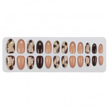 Set 24 Unghii False Tips cu aspect natural, Salon Nails, 07 Animal Print