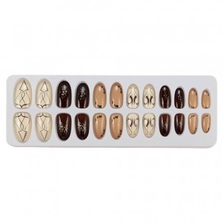 Set 24 Unghii False Tips cu aspect natural, Salon Nails, 08 Mystery
