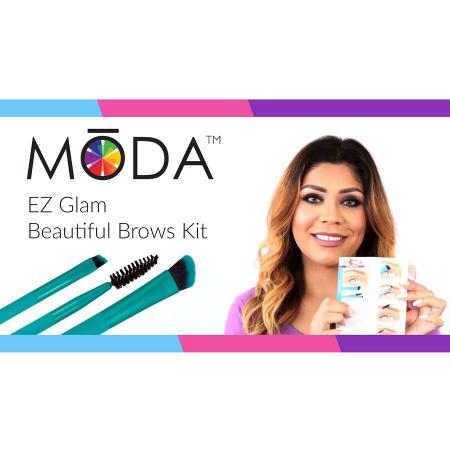 Set pensule profesionale pentru Sprancene Royal & Langnickel MODA EZGlam Duo Beautiful Brows2
