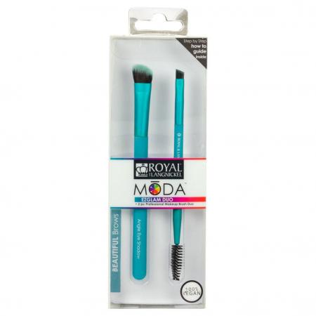 Set pensule profesionale pentru Sprancene Royal & Langnickel MODA EZGlam Duo Beautiful Brows1