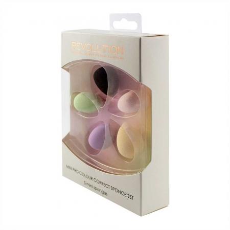 Set 5 Mini Buretei Makeup Revolution Mini Pro Colour Correct Sponge Set2