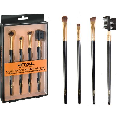 Set de 4 Pensule pentru ochi si sprancene ROYAL Eye Perfection Brush