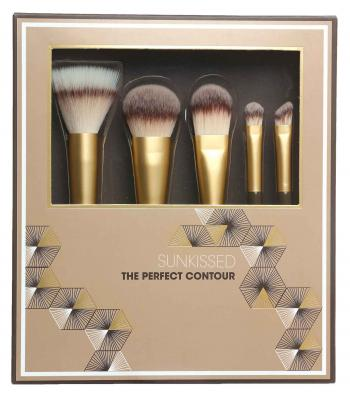 Set 5 Pensule pentru Conturare si Blending SUNKissed The Perfect Contour 5pc Make-Up Brush Set1