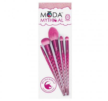 Set 5 pensule profesionale Royal & Langnickel MODA Mythical Kit, Wild Blush6