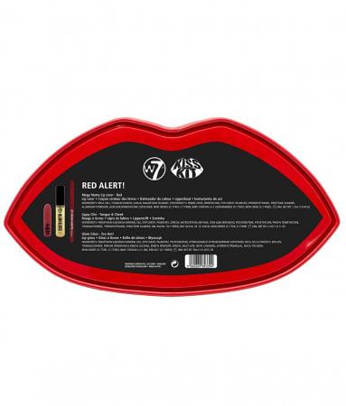 Set Cadou pentru Buze W7 Kiss Kit, Red Alert3