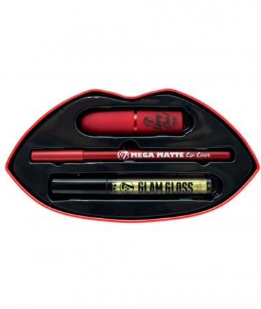 Set Cadou pentru Buze W7 Kiss Kit, Red Alert2