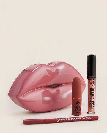 Set Cadou pentru Buze W7 Kiss Kit, Bare it All1