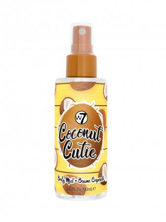 Set cu Lotiune de corp, Spray de corp si Gel de dus cu COCOS, W7 Travel Set Trio Coconut Cutie, 75 ml x 90 ml x 75 ml3