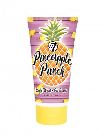 Set cu Lotiune de corp, Spray de corp si Gel de dus cu ANANAS, W7 Travel Set Trio  Pineapple Punch, 75 ml x 90 ml x 75 ml4