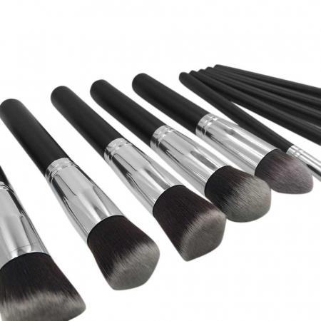Set de 10 Pensule Profesionale Top Quality Kabuki Lilyz, Black3