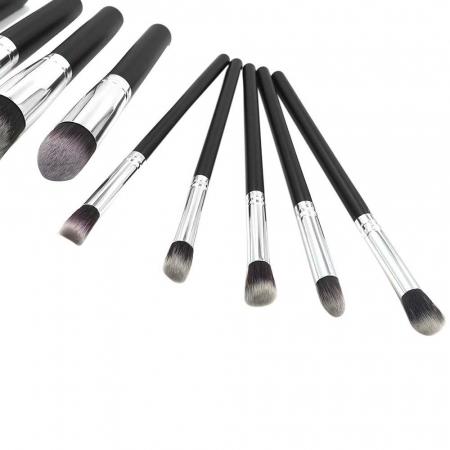 Set de 10 Pensule Profesionale Top Quality Kabuki Lilyz, Black2
