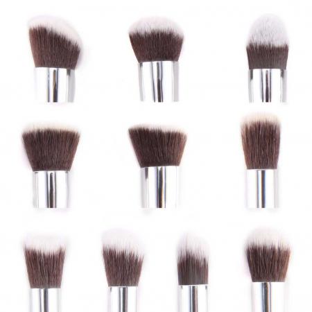 Set de 10 Pensule Profesionale Top Quality Kabuki Lilyz, Pink5