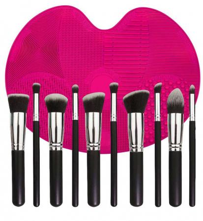 Set de 10 Pensule Profesionale cu Dispozitiv de Silicon pentru Curatare, Brush SPA