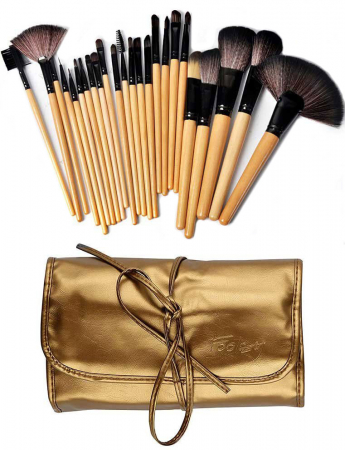 Set de 24 Pensule Profesionale din par natural, Top Quality Golden Lights